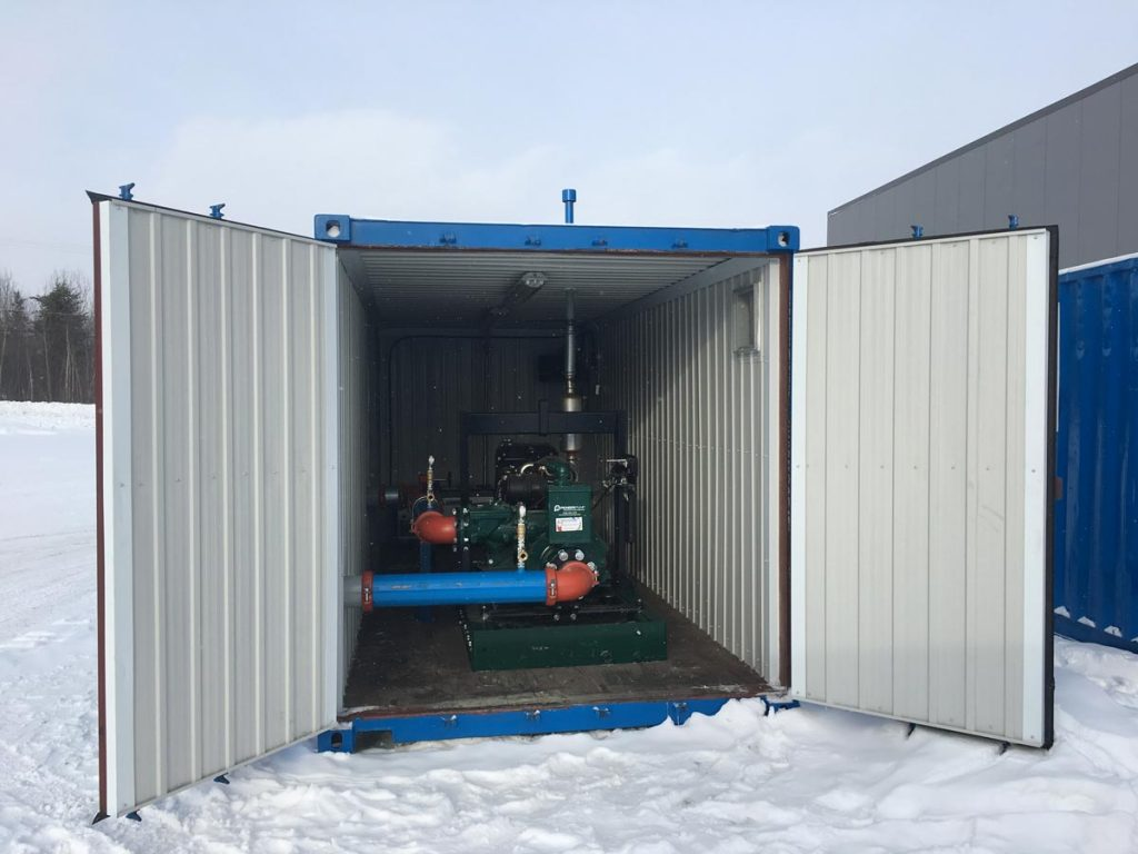 Winterised pumping station - Hydrotech Mining